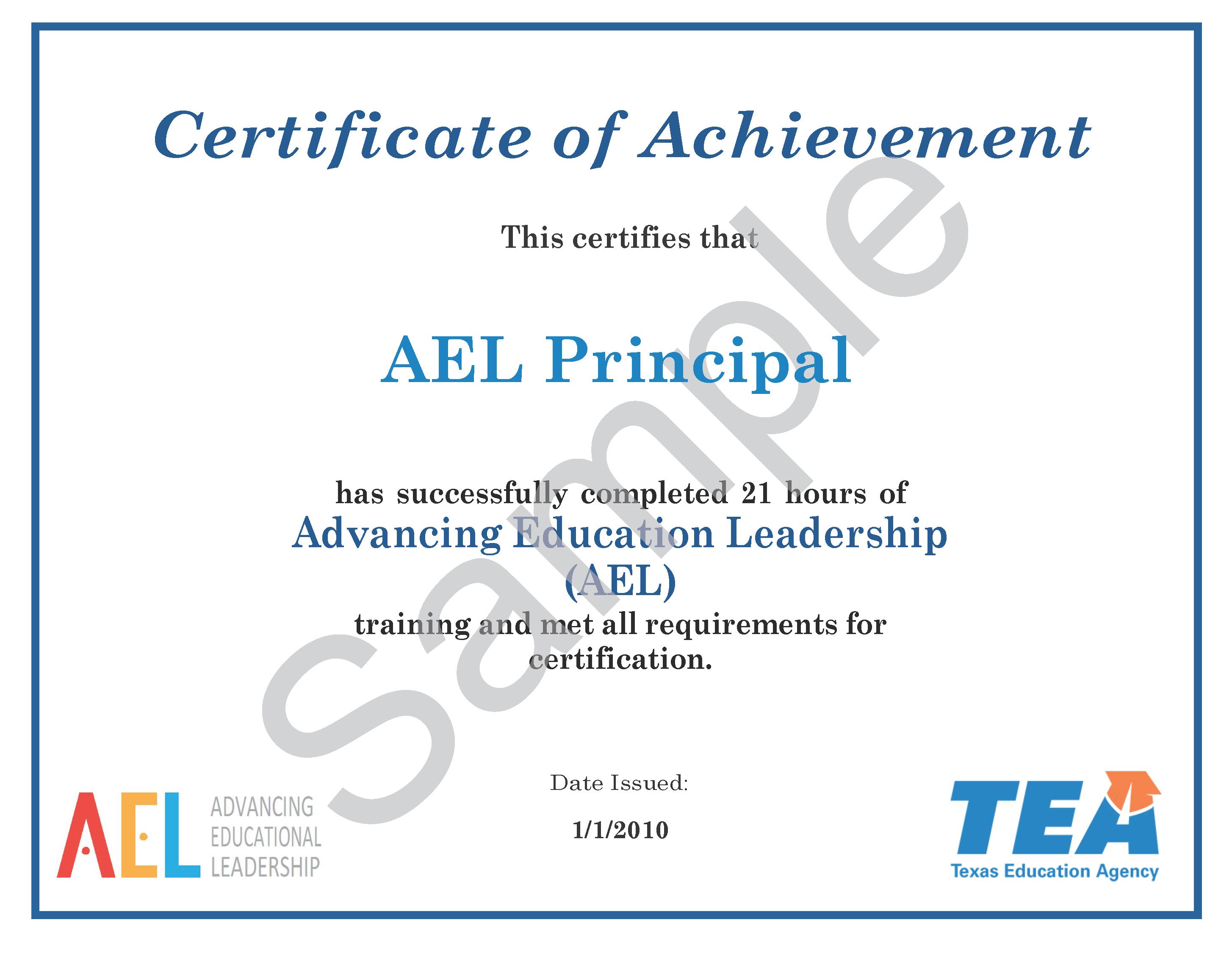 ael certificate lookup ael